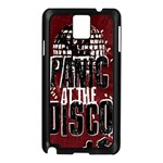Panic At The Disco Poster Samsung Galaxy Note 3 N9005 Case (Black) Front