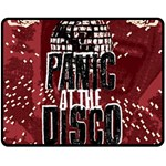 Panic At The Disco Poster Double Sided Fleece Blanket (Medium)  60 x50 Blanket Back