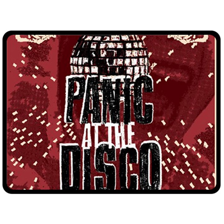 Panic At The Disco Poster Double Sided Fleece Blanket (Large)