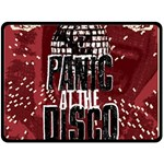 Panic At The Disco Poster Double Sided Fleece Blanket (Large)  80 x60 Blanket Back
