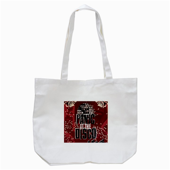 Panic At The Disco Poster Tote Bag (White)