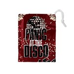 Panic At The Disco Poster Drawstring Pouches (Medium)  Front