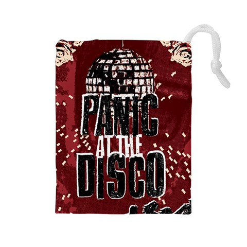 Panic At The Disco Poster Drawstring Pouches (Large)