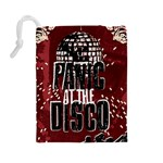 Panic At The Disco Poster Drawstring Pouches (Large)  Back