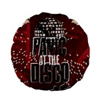 Panic At The Disco Poster Standard 15  Premium Flano Round Cushions Back