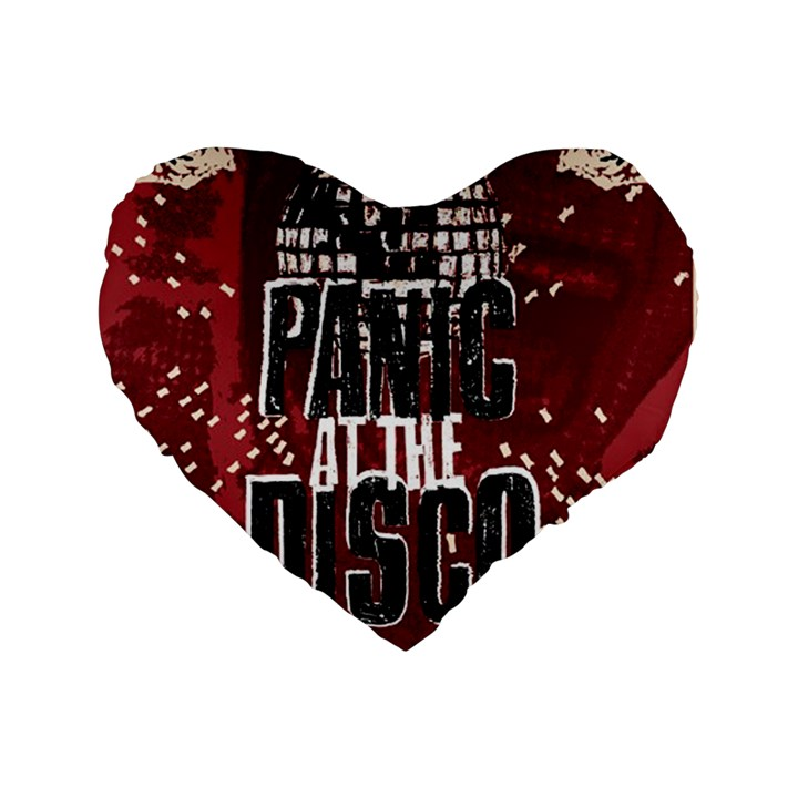 Panic At The Disco Poster Standard 16  Premium Flano Heart Shape Cushions