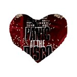 Panic At The Disco Poster Standard 16  Premium Flano Heart Shape Cushions Back