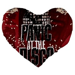 Panic At The Disco Poster Large 19  Premium Flano Heart Shape Cushions