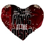 Panic At The Disco Poster Large 19  Premium Flano Heart Shape Cushions Front