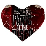 Panic At The Disco Poster Large 19  Premium Flano Heart Shape Cushions Back