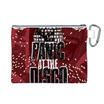 Panic At The Disco Poster Canvas Cosmetic Bag (L) Back