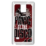 Panic At The Disco Poster Samsung Galaxy Note 4 Case (White) Front
