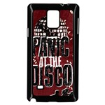 Panic At The Disco Poster Samsung Galaxy Note 4 Case (Black) Front