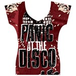 Panic At The Disco Poster Women s V-Neck Cap Sleeve Top Front