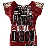 Panic At The Disco Poster Women s V-Neck Cap Sleeve Top Back