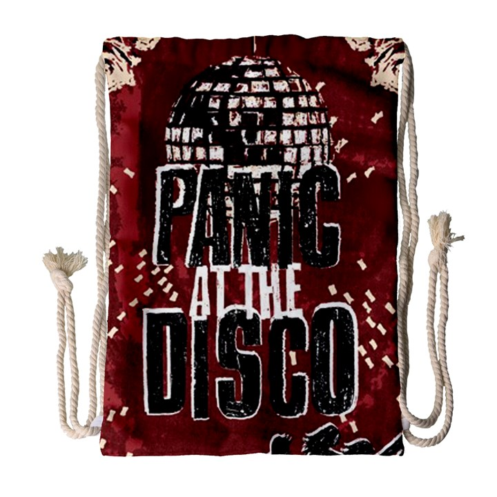 Panic At The Disco Poster Drawstring Bag (Large)