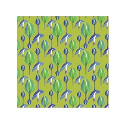 Tropical Floral Pattern Small Satin Scarf (Square)