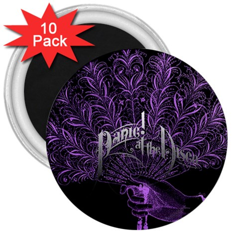 Panic At The Disco 3  Magnets (10 pack)
