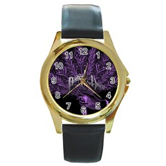 Panic At The Disco Round Gold Metal Watch