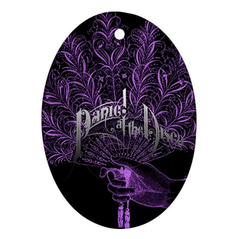 Panic At The Disco Oval Ornament (Two Sides)
