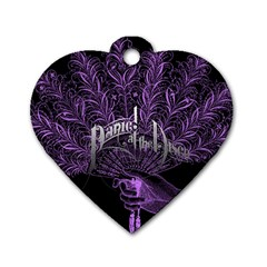 Panic At The Disco Dog Tag Heart (one Side)