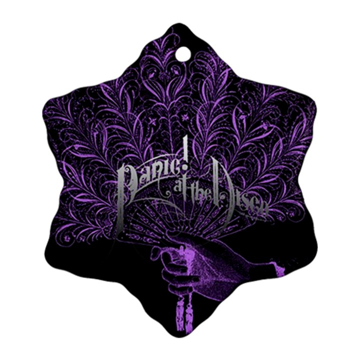 Panic At The Disco Snowflake Ornament (2-Side)