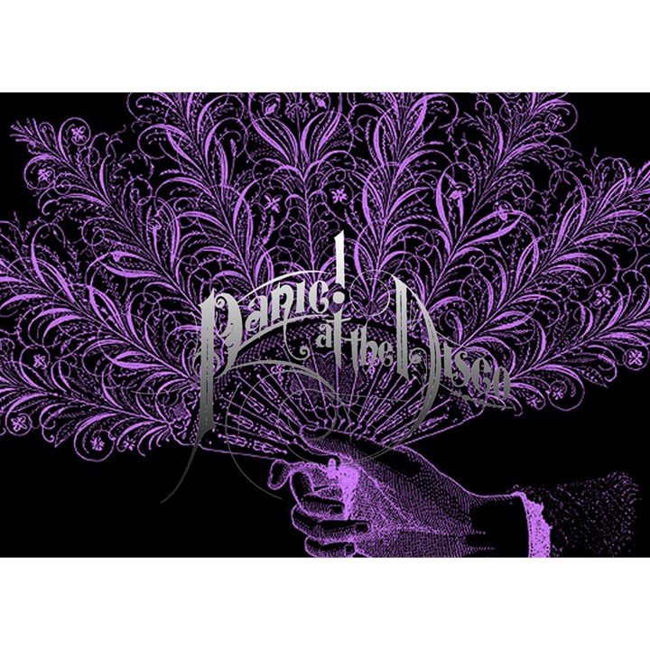 Panic At The Disco Birthday Cake 3D Greeting Card (7x5)