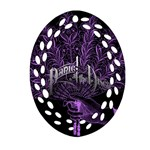 Panic At The Disco Oval Filigree Ornament (2-Side)  Back