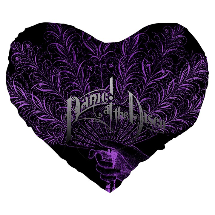 Panic At The Disco Large 19  Premium Heart Shape Cushions