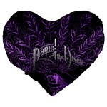 Panic At The Disco Large 19  Premium Heart Shape Cushions Back