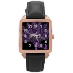 Panic At The Disco Rose Gold Leather Watch  Front