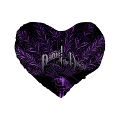 Panic At The Disco Standard 16  Premium Flano Heart Shape Cushions