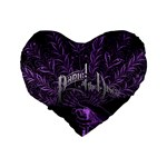 Panic At The Disco Standard 16  Premium Flano Heart Shape Cushions Back