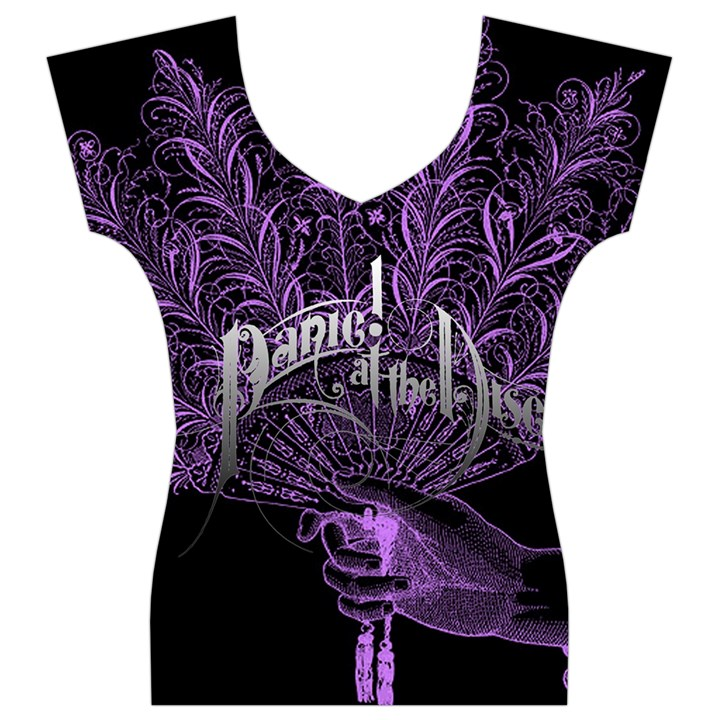 Panic At The Disco Women s V-Neck Cap Sleeve Top