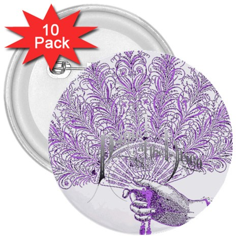 Panic At The Disco 3  Buttons (10 pack)