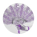 Panic At The Disco Round Ornament (Two Sides)  Back