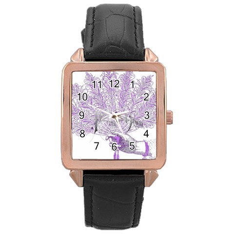 Panic At The Disco Rose Gold Leather Watch
