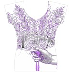 Panic At The Disco Women s V-Neck Cap Sleeve Top Front