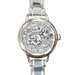 Panic! At The Disco Lyric Quotes Round Italian Charm Watch Front