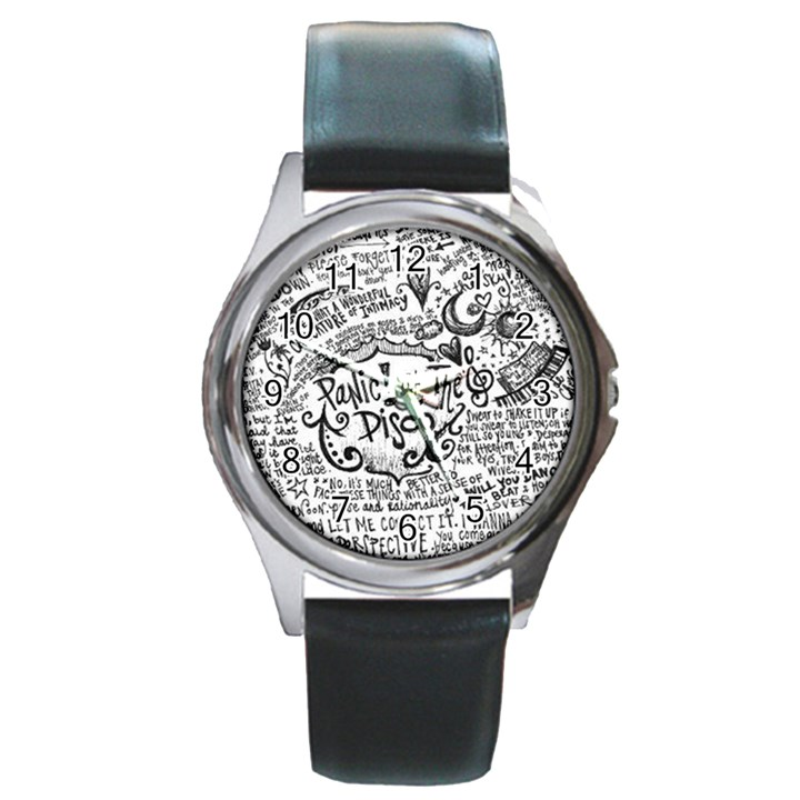 Panic! At The Disco Lyric Quotes Round Metal Watch
