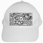 Panic! At The Disco Lyric Quotes White Cap Front