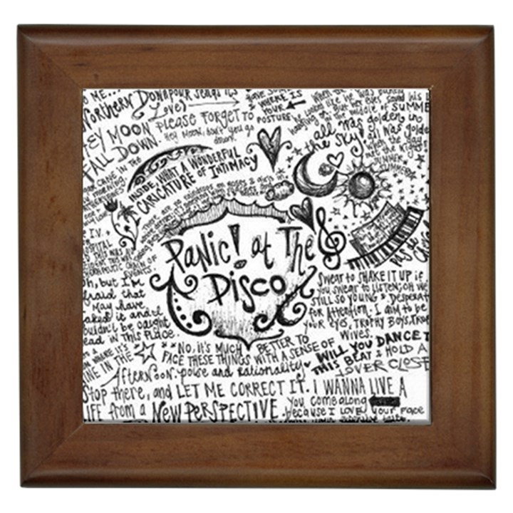 Panic! At The Disco Lyric Quotes Framed Tiles
