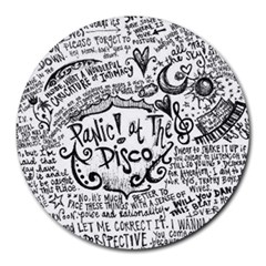 Panic! At The Disco Lyric Quotes Round Mousepads