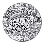 Panic! At The Disco Lyric Quotes Round Mousepads Front