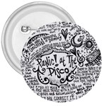 Panic! At The Disco Lyric Quotes 3  Buttons Front