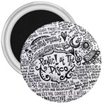 Panic! At The Disco Lyric Quotes 3  Magnets Front
