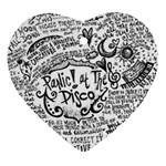 Panic! At The Disco Lyric Quotes Ornament (Heart)  Front