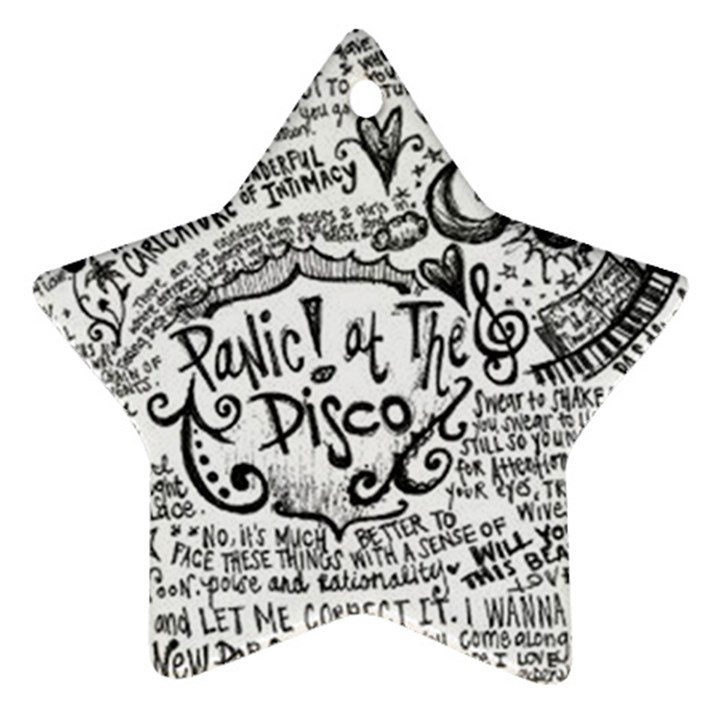 Panic! At The Disco Lyric Quotes Ornament (Star)