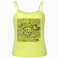 Panic! At The Disco Lyric Quotes Yellow Spaghetti Tank