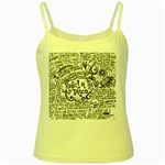 Panic! At The Disco Lyric Quotes Yellow Spaghetti Tank Front